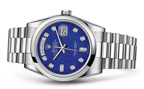 Rolex Day-Date 36mm Platinum 118206  Retail Price: $65,300 Our Price: $55,505   Call for additional savings: 215-922-4367