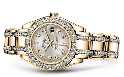 Rolex Pearlmaster 29mm 18K Yellow 80298  Retail Price: $66,450 Our Price: $52,550   Call for additional savings: 215-922-4367