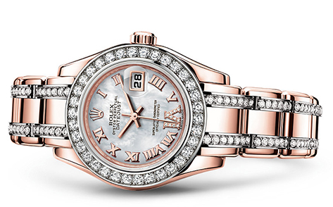Rolex Pearlmaster 29mm 18K Rose 80285  Retail Price: $79,200 Our Price: $55,950   Call for additional savings: 215-922-4367