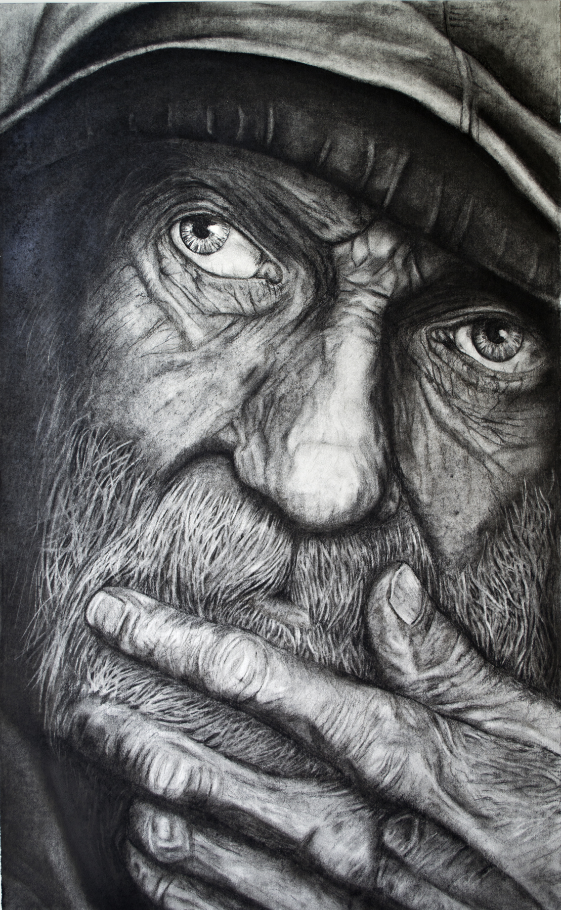 The Thinker   Charcoal  2011   *Pentagon Exhibit