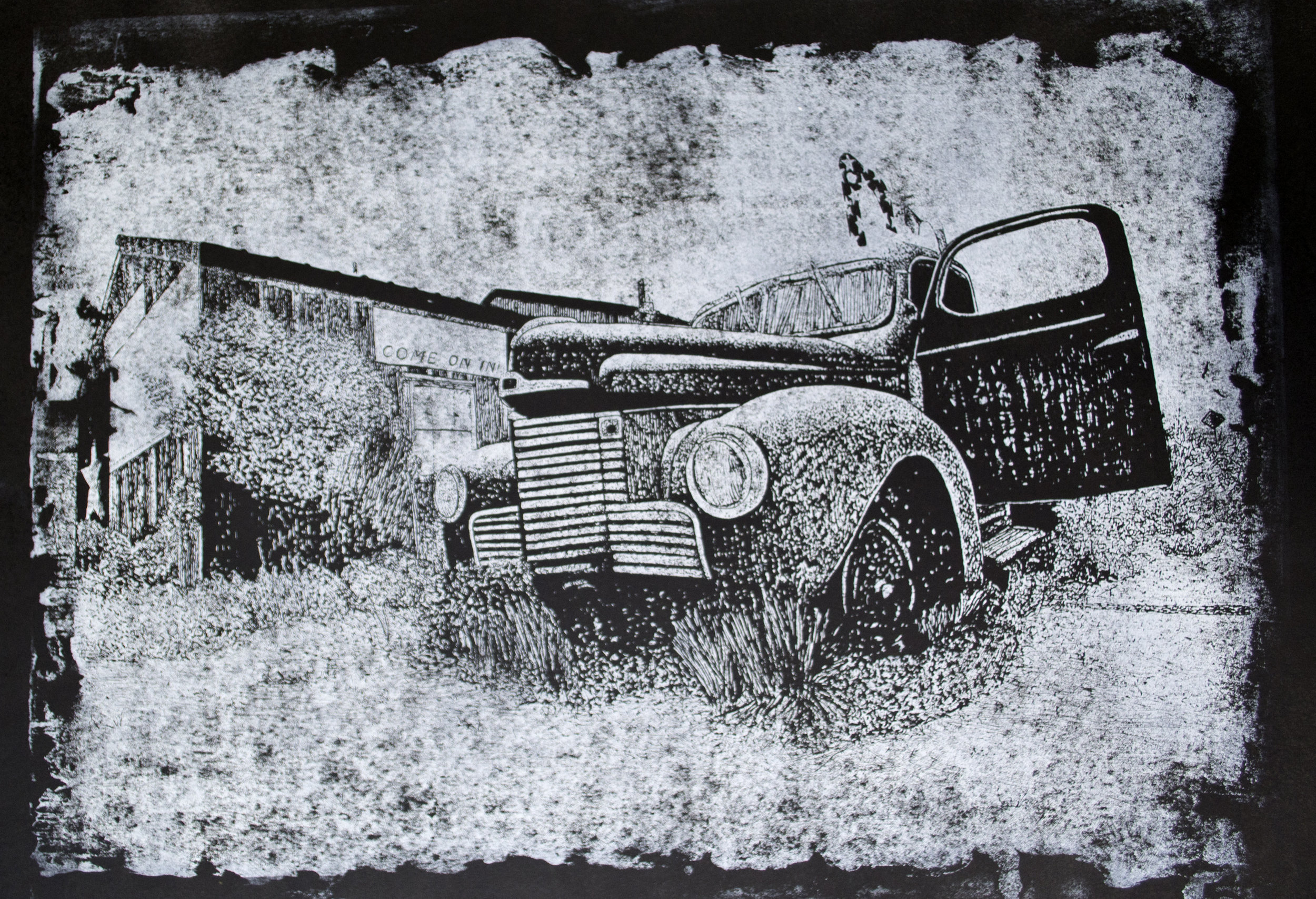 Welcome  Relief Print 2014