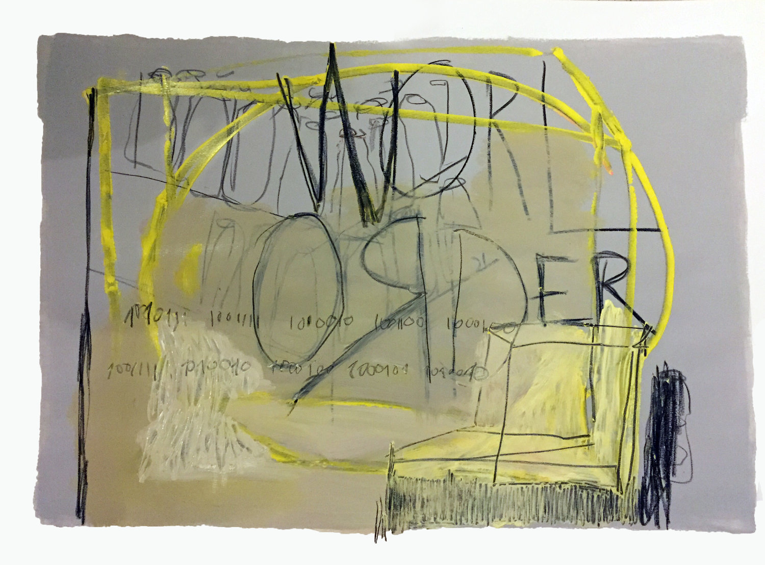 World Order (scketch)   oil, charcoal and oil pastel on paper / 70cm x 100cm