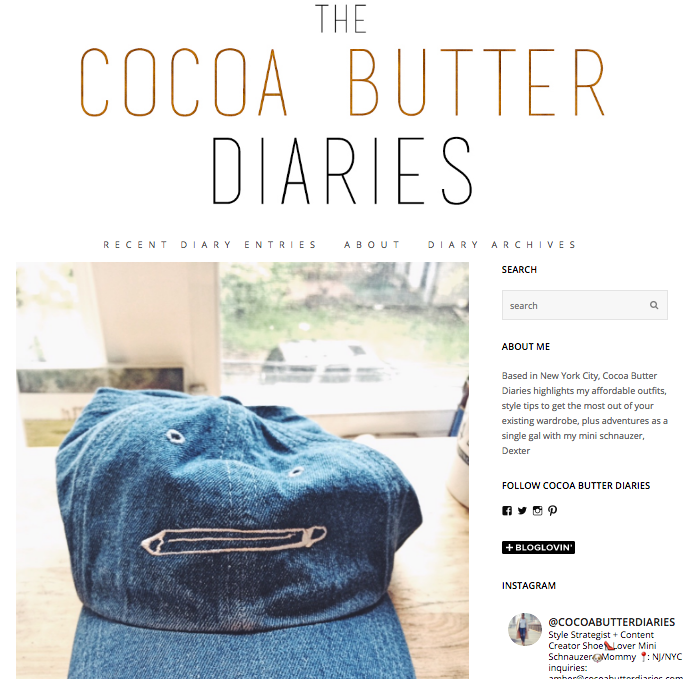Cocoa Butter Diaries /// winter 2015
