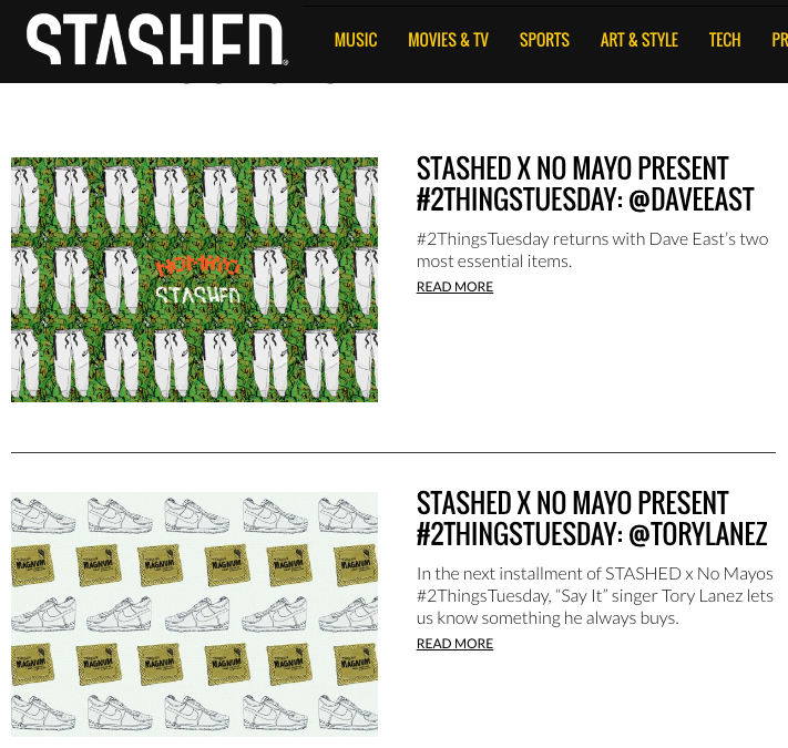 STASHED /// fall 2015