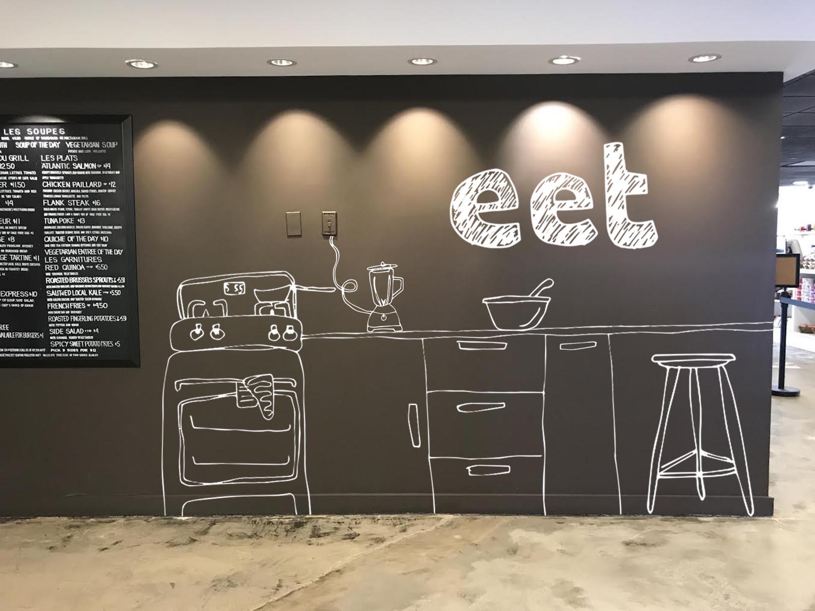 no media concept design for EET restaurant