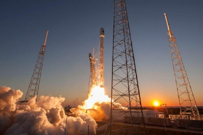 A Falcon 9 lifts off from SpaceX's launch complex at Cape Canaveral. SpaceX has disrupted the launch business by undercutting other providers on price, but taking out costs can potentially raise risk in an unusually dangerous business. (Wikimedia Commons)