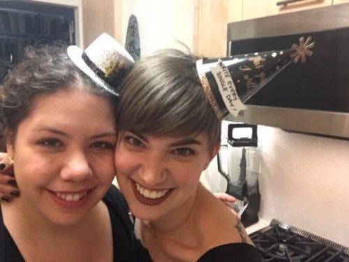 Elizabeth [L] and Flourish on New Year's Eve!