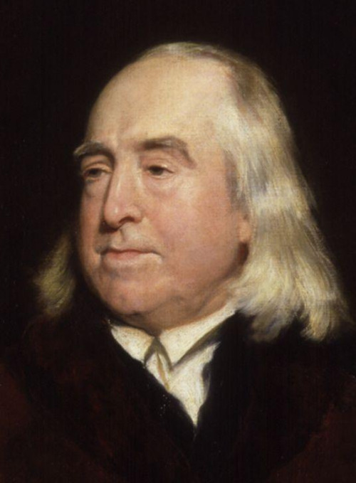 A painting of Jeremy Bentham in his older years.