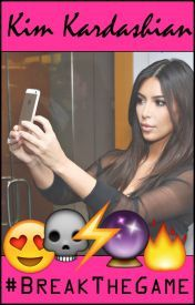 The cover of  Kim Kardashian: Break the Game , featuring Kim and a variety of emoji.