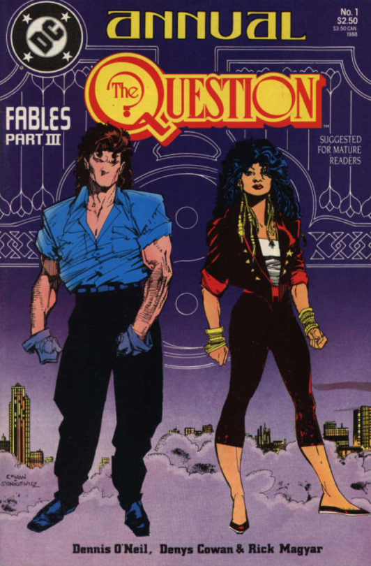 A cover of an issue of  The Question.