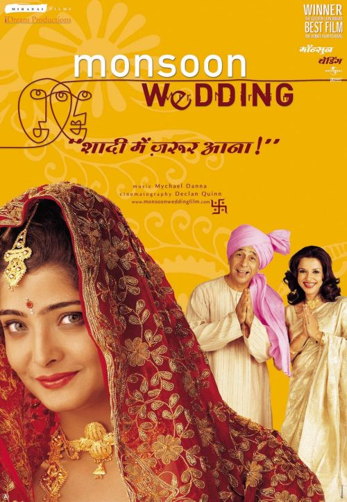 The poster for the film  Monsoon Wedding .