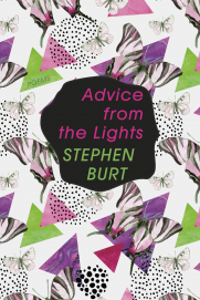 The largely abstract cover of Stephanie's book  Advice from the Lights.