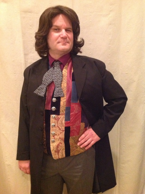 Javi in cosplay as Dr. Who.