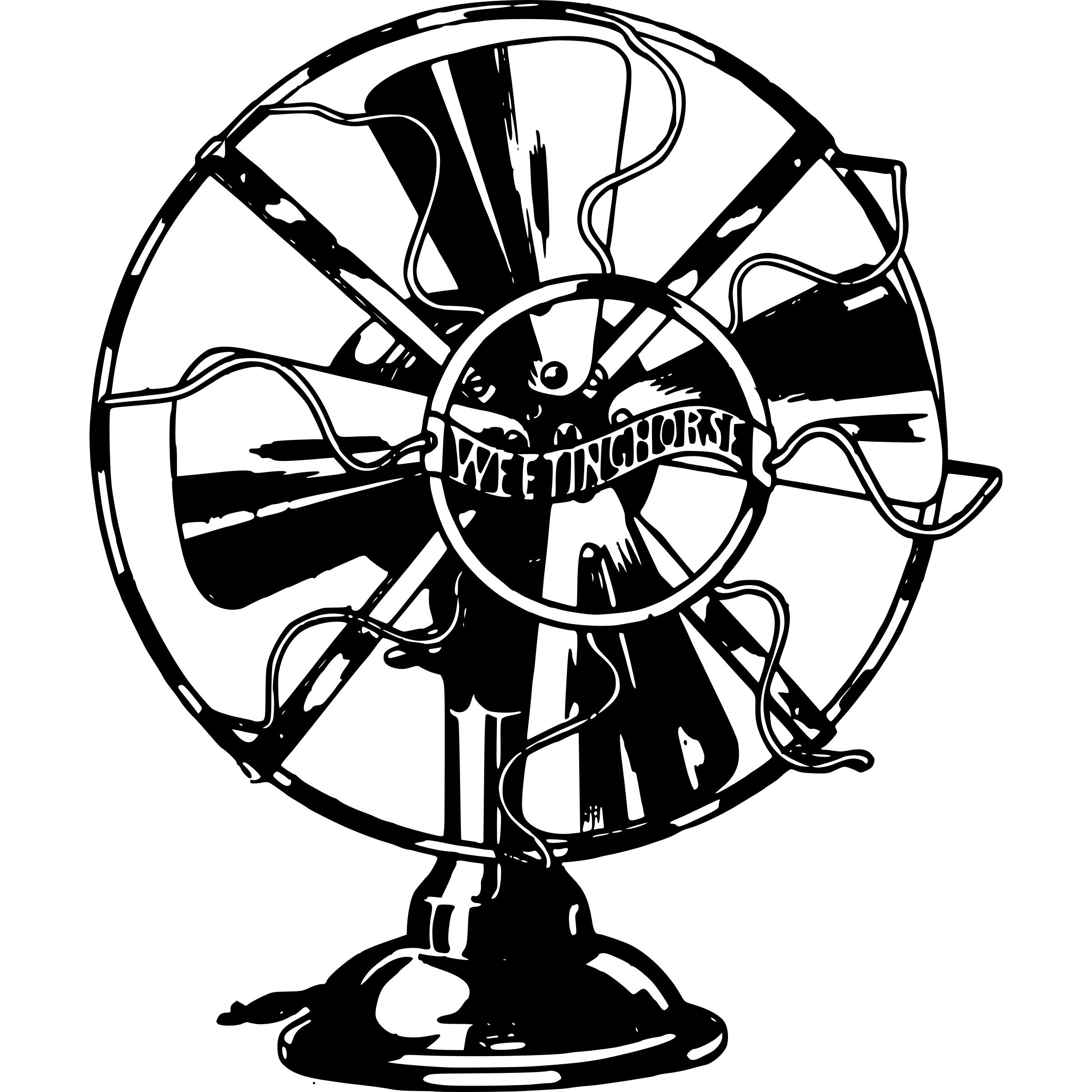 Episode 1's cover: a large tabletop fan.