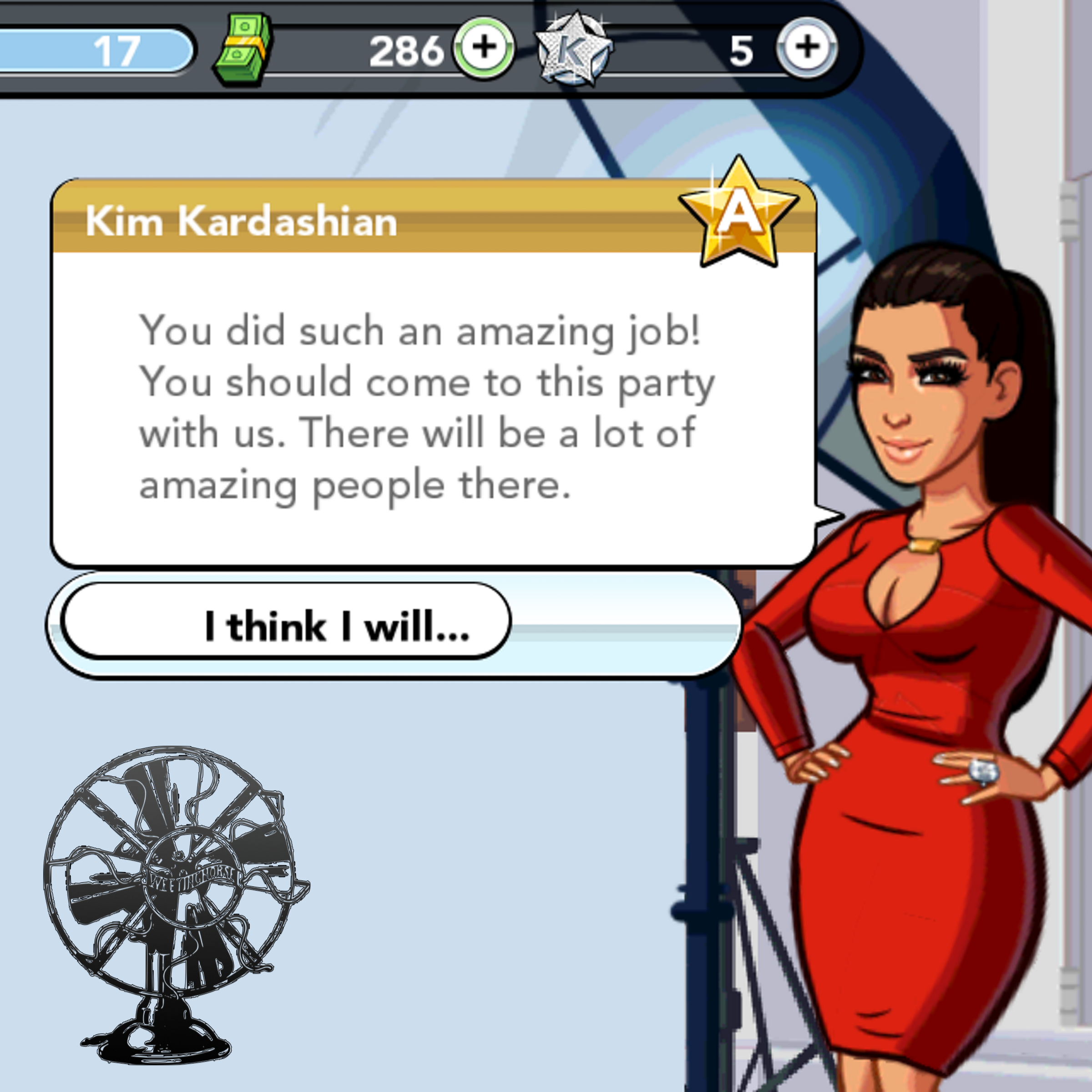 Episode 24's cover: a screenshot from Kim Kardashian's mobile game.