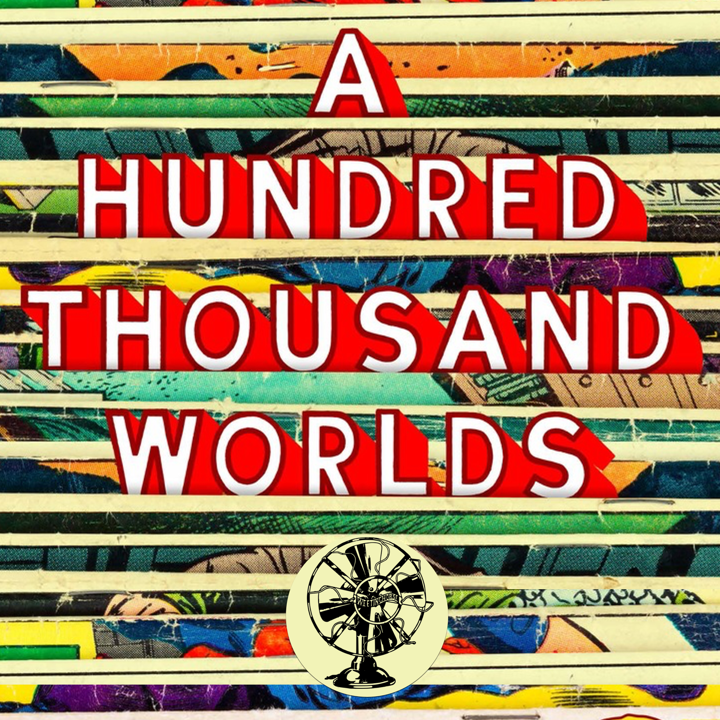 Episode 33's cover: the cover of the book  A Hundred Thousand Worlds.