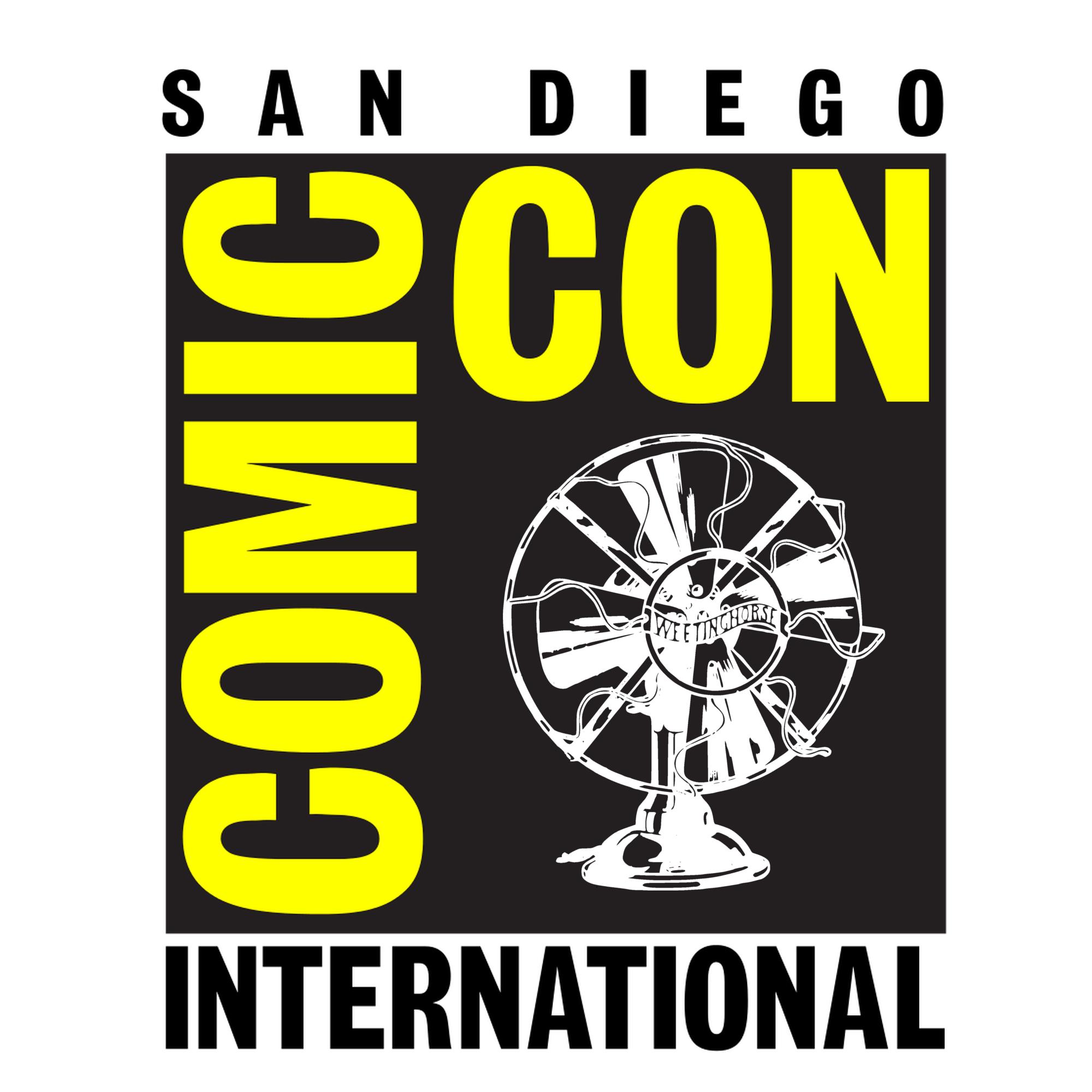 Episode 79's cover: the San Diego Comic-Con logo