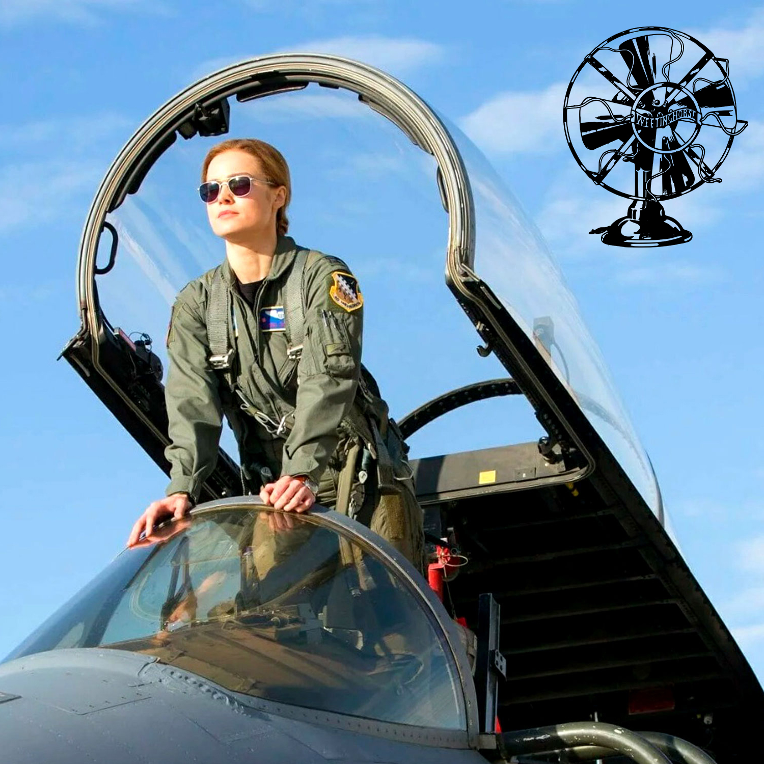 The cover for Special Episode 11. Captain Marvel in an Air Force cockpit.