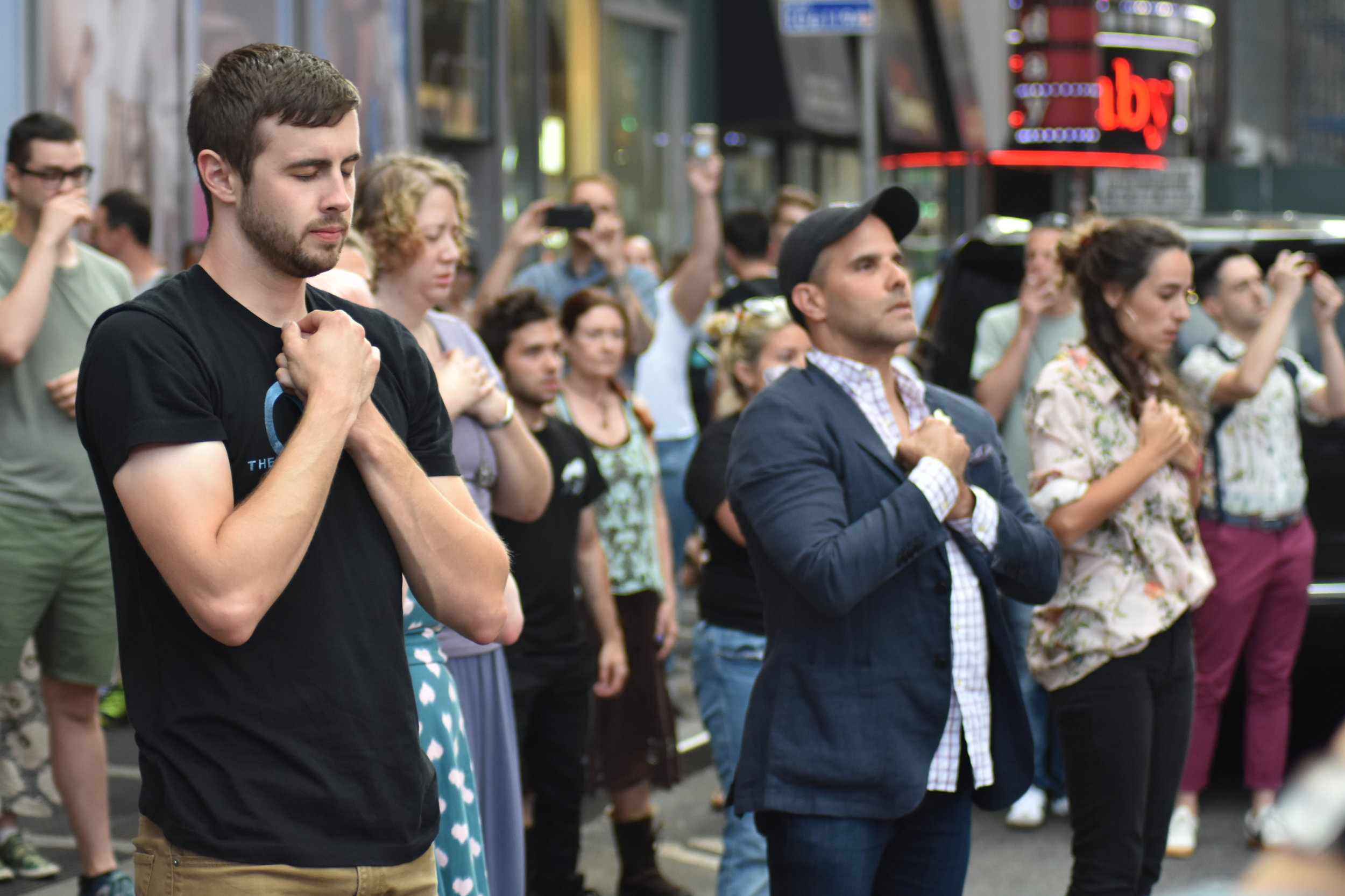 Fans of  The OA  do The Movements in Times Square
