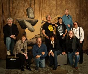 Founding members of The Rock and Roll Society of Edmonton (L-R): Dan Rowe, Susan Taylor, Bob Dawe, Donna Semeniuk, Doug McRae, Martin Salloum, Carson Cole, Witold Gutter and Jet Trautman.