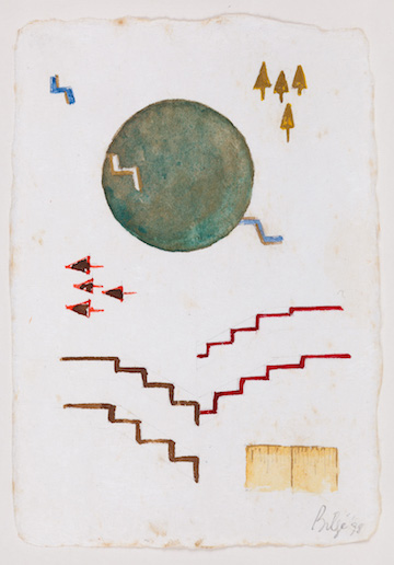 Bilge Friedlaender,Untitled, Mixed media on paper, 32 x 26 cm, 1998 Photo: Rıdvan Bayrakoğlu