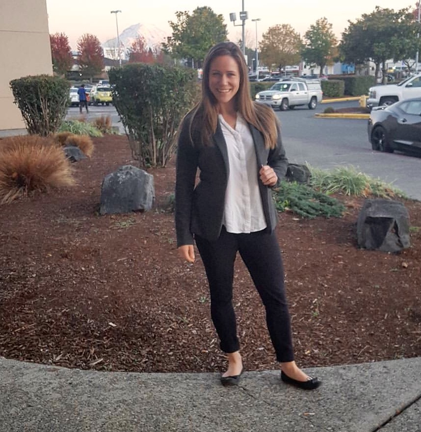 Hanni looking so professional in her new blazer that her son felt compelled to snap a picture.