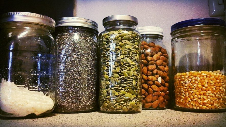 These storage jars are from the clean and modern pantry of our friend Hanni. (She also deserves the photo credit!)