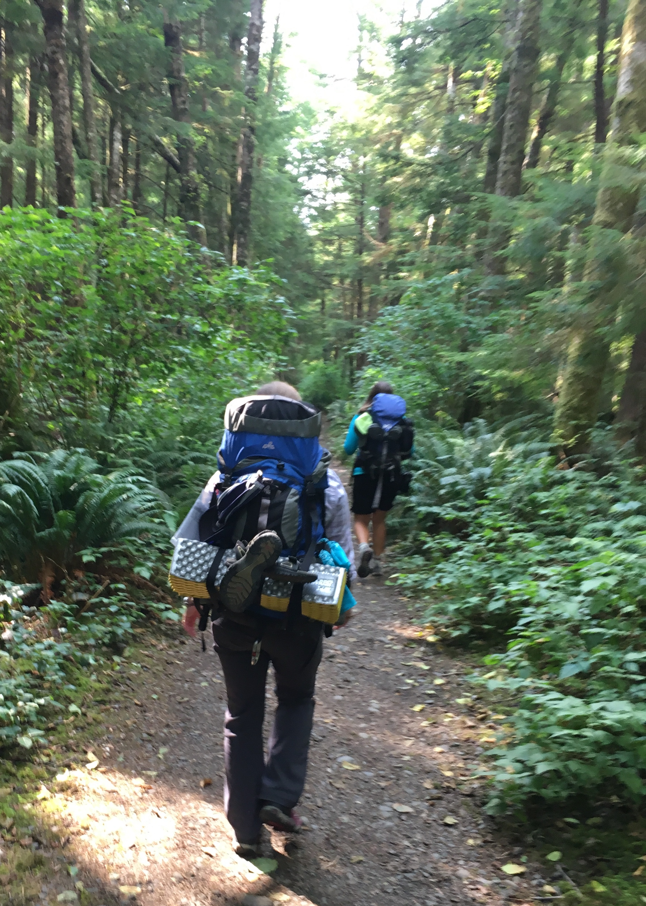 Backpacking on the South Coast Wilderness Trail last summer in my new boots!