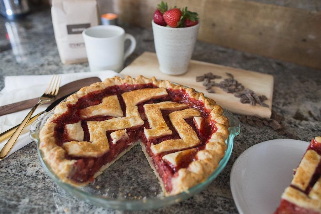 Strawberry Chevron Pie - Tiny Kitchen Co.