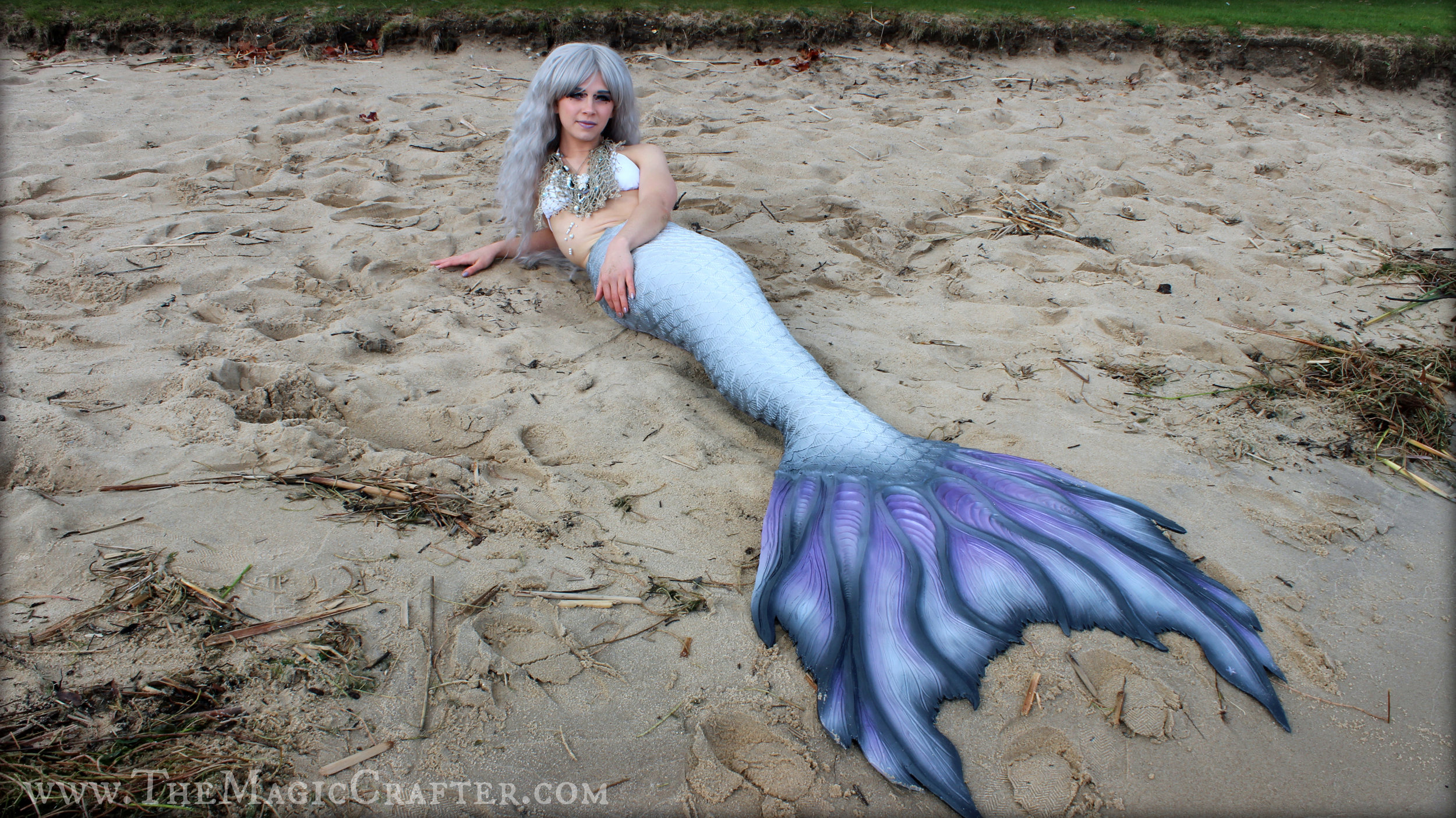 Goodness! I am so twisted in this picture! XD But look at how  beautiful  the front of my tail is!!! MerNation did such awesome work! They've made me such a happy mermaid!!!