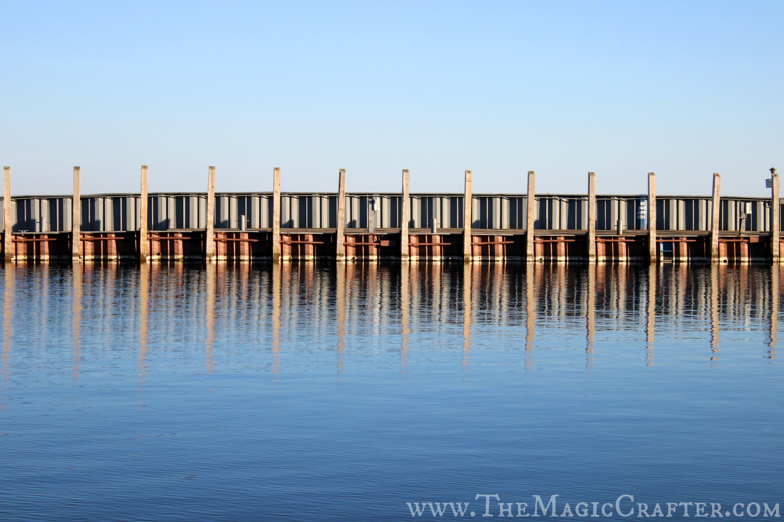 The marina has cleared out quite a bit since the summer ended. Where once many boats were docked the water now flows freely.