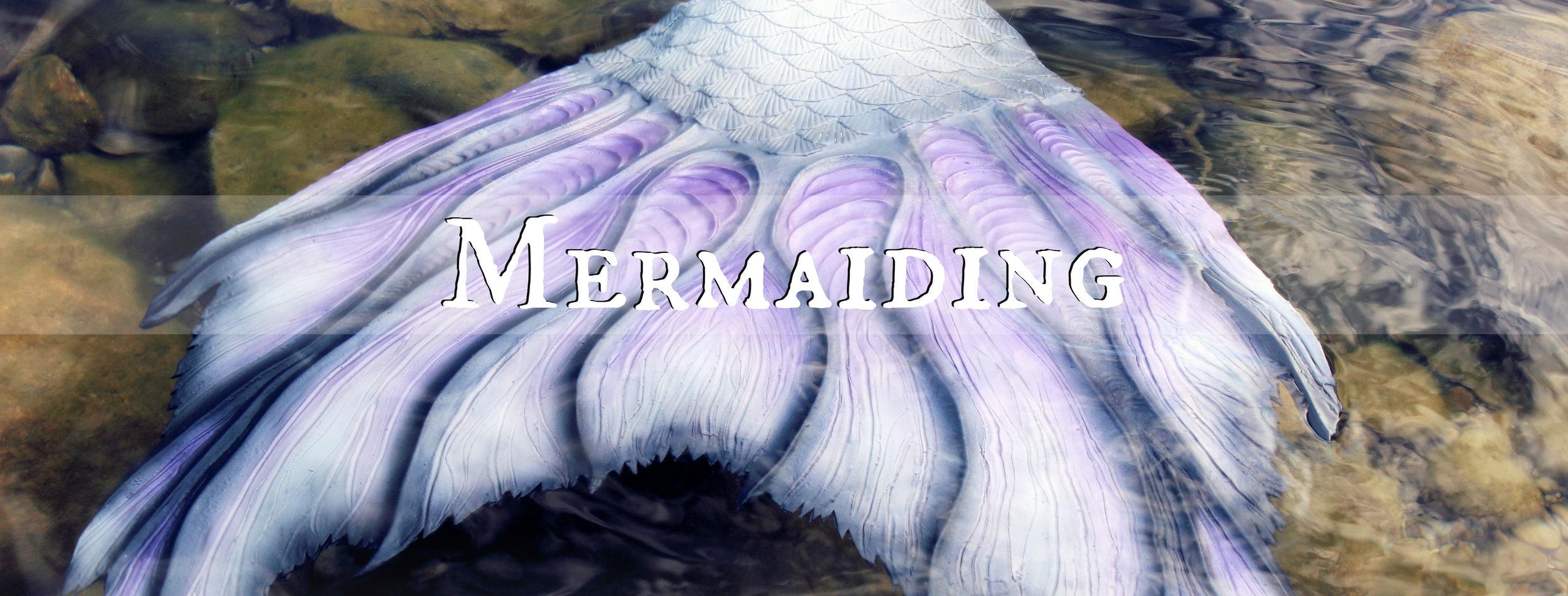 Mermaid Phantom mermaiding in her MerNation Silicone Mermaid Tail