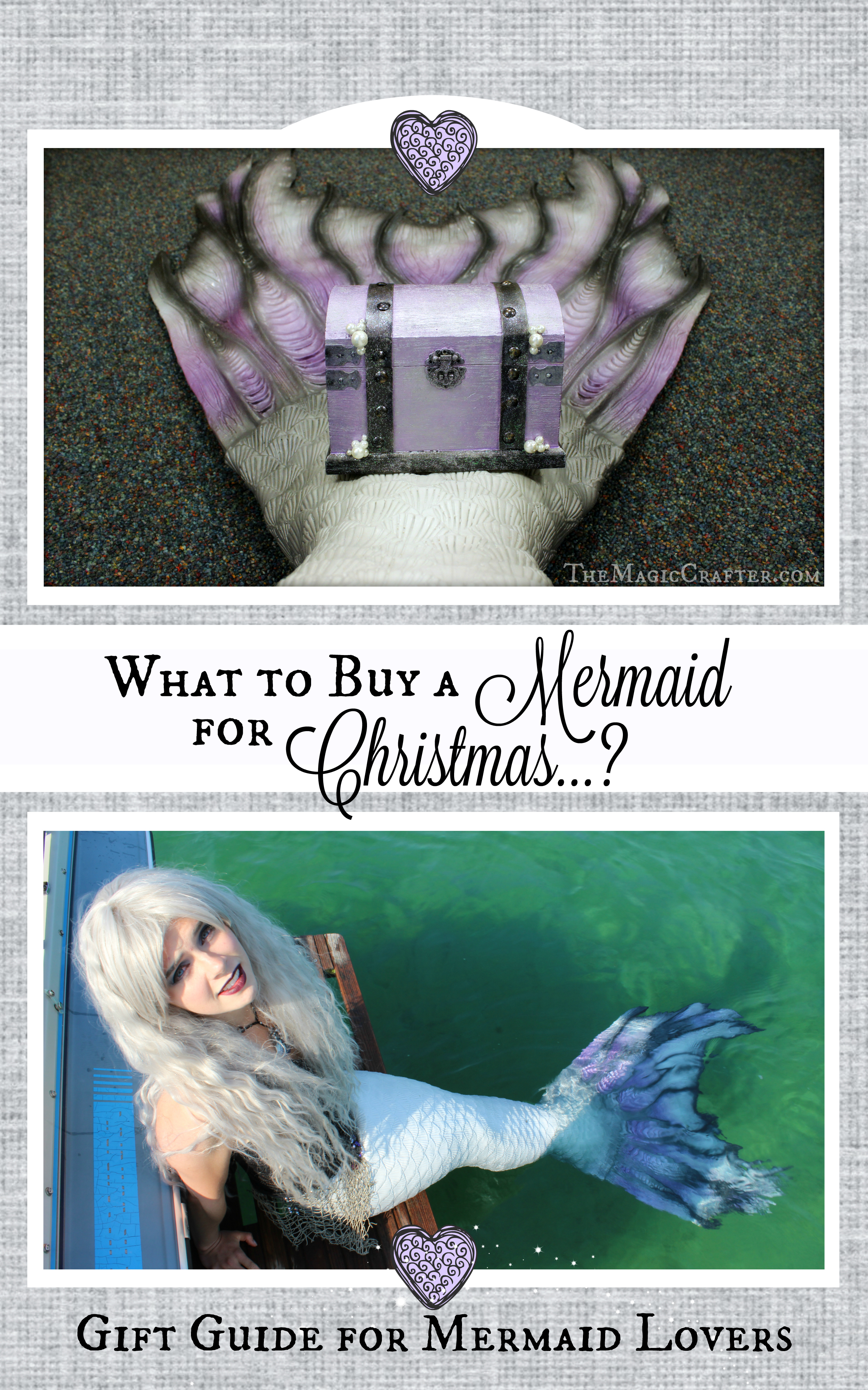 A Gift Guide for Mermaids- What to buy someone for Christmas that loves mermaids? Come to www.TheMagicCrafter.com for Holiday gift ideas galor!