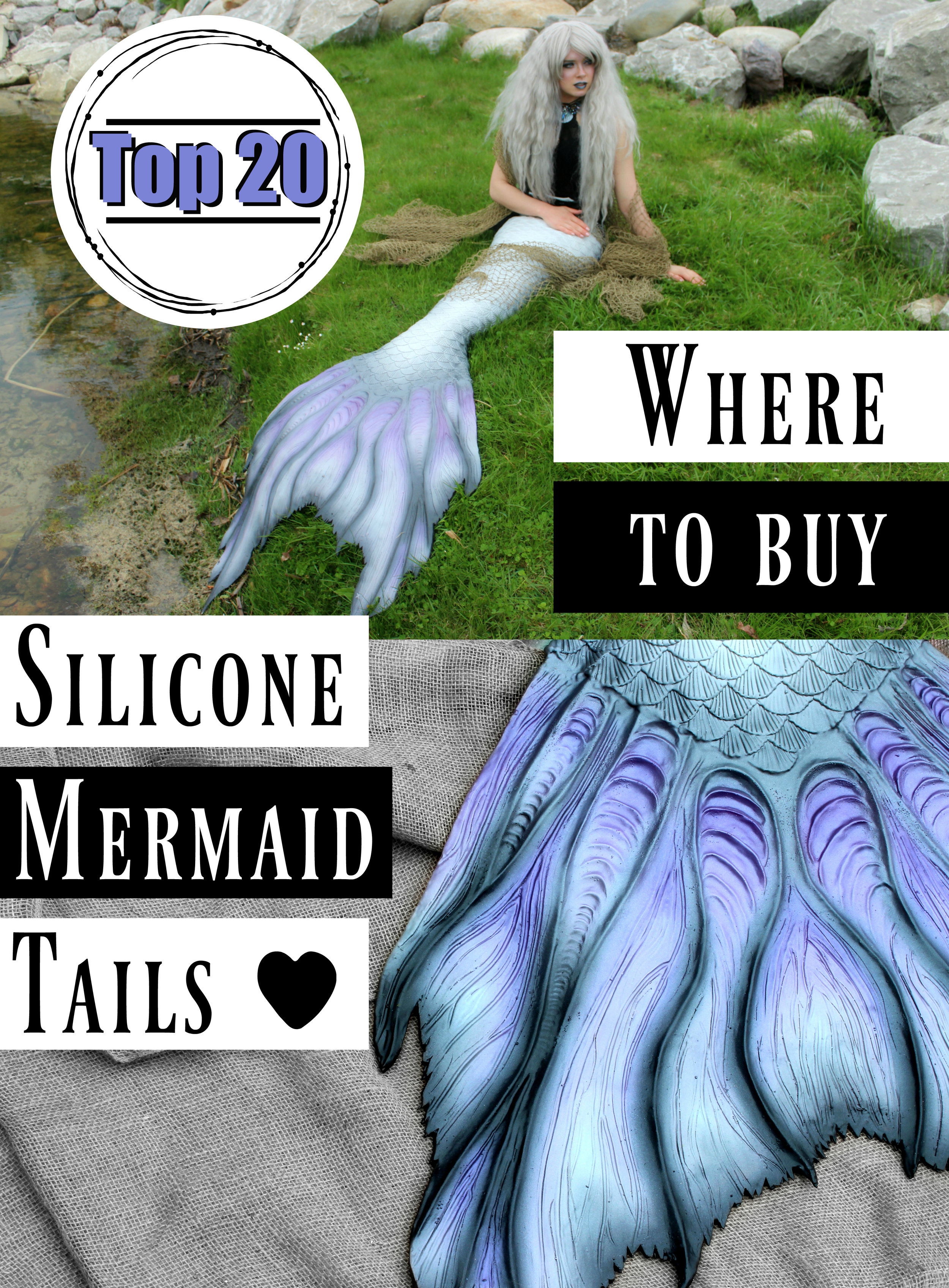 Silicone Mermaid Tails for Adults: Where to Buy Silicone Mermaid Tails Online for Professional Mermaids! Where is the best place to buy silicone mermaid tails? Here are 20 of my FAVORITE places to find silicone mermaid tails for sale.