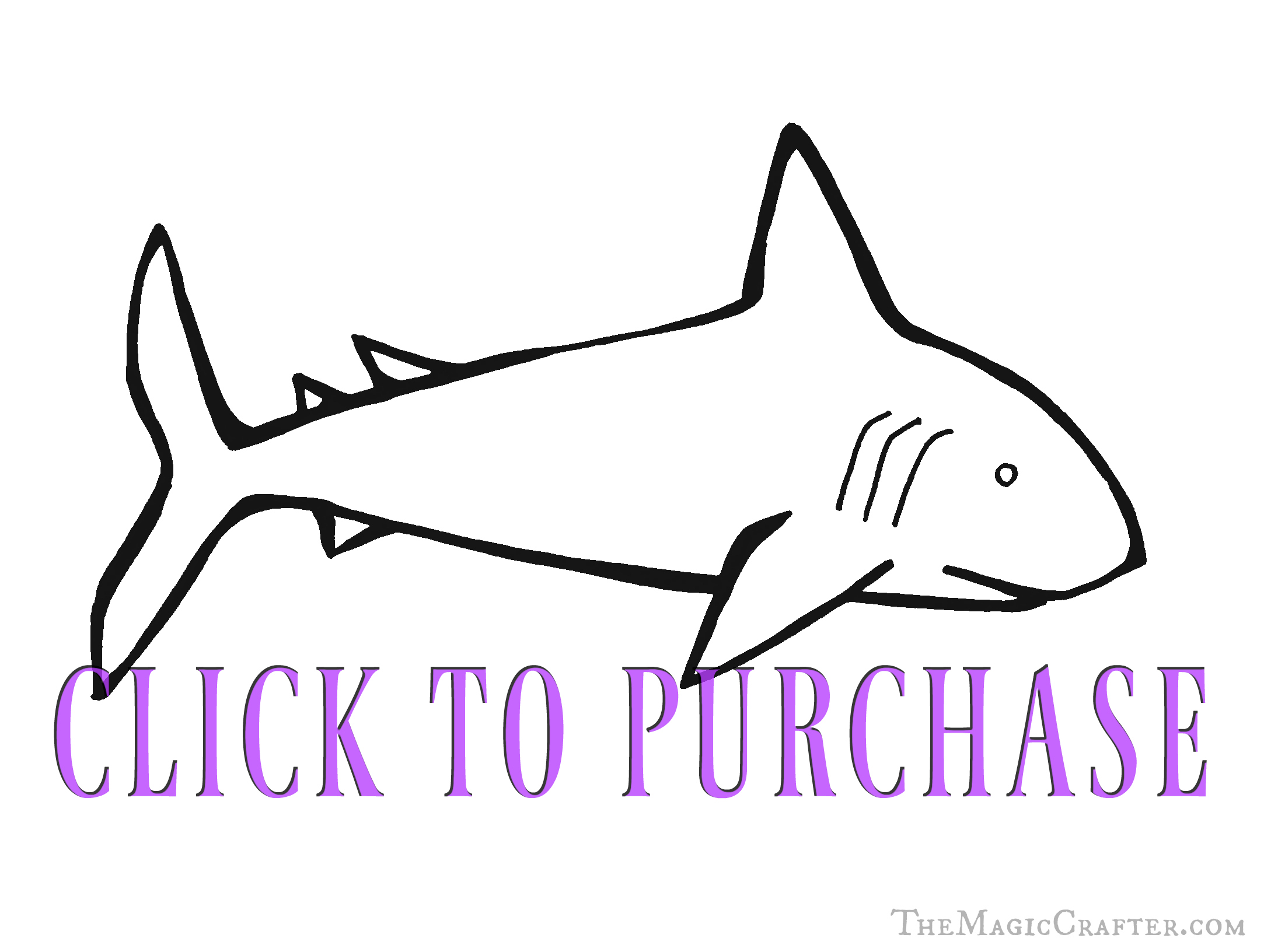 Shark Coloring Pages! Click on this image to go to The Magic Crafter's Etsy store. There, you will be able to purchase and download this cute printable coloring sheet. It is perfect for Pirate Birthday Parties, mermaid parties, and under the sea parties! ♥