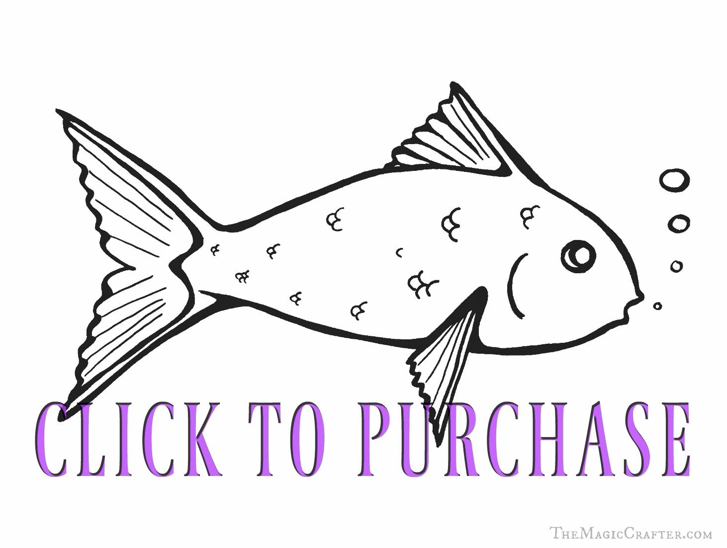 Cute Fish Coloring Pages! Click on this image to buy this downloadable picture from The Magic Crafter on Etsy! Once you purchase this adorable coloring sheet, you will be able to print off plenty of picture for your child's party or your special event! This picture is great for Mermaid, Pirate, and Under the Sea themed parties. It is also handy for Professional Mermaids to have on hand to print off and hand out at their events!