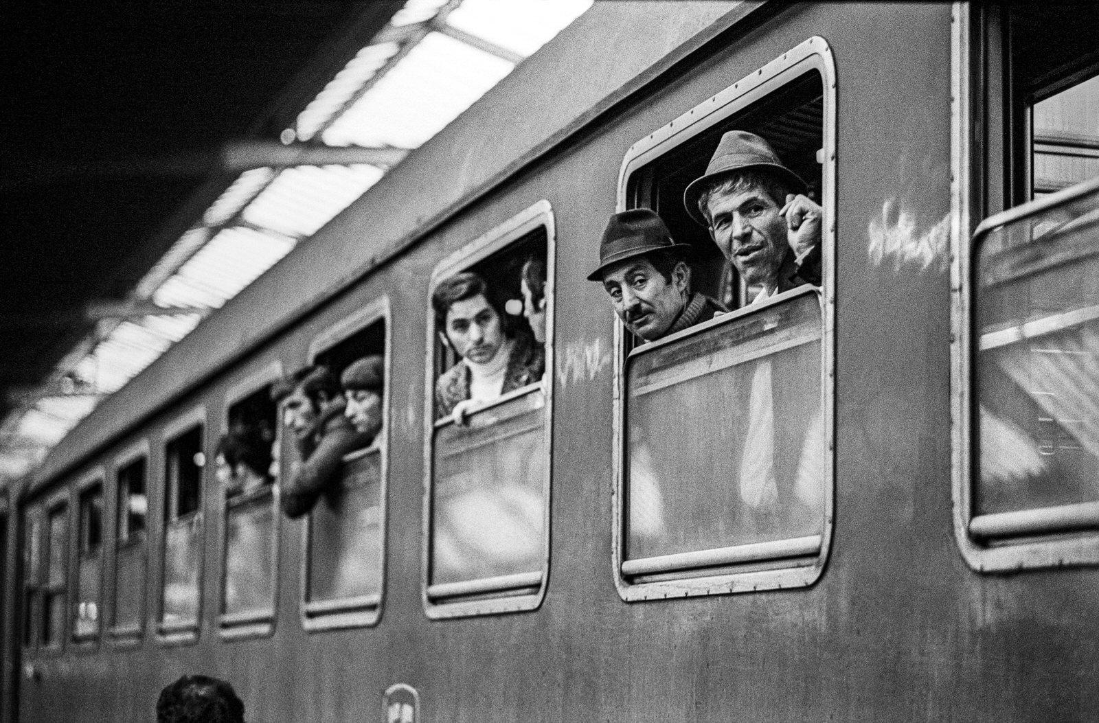 Heimkehr der Saisonarbeiter nach Italien, HB, 1969
