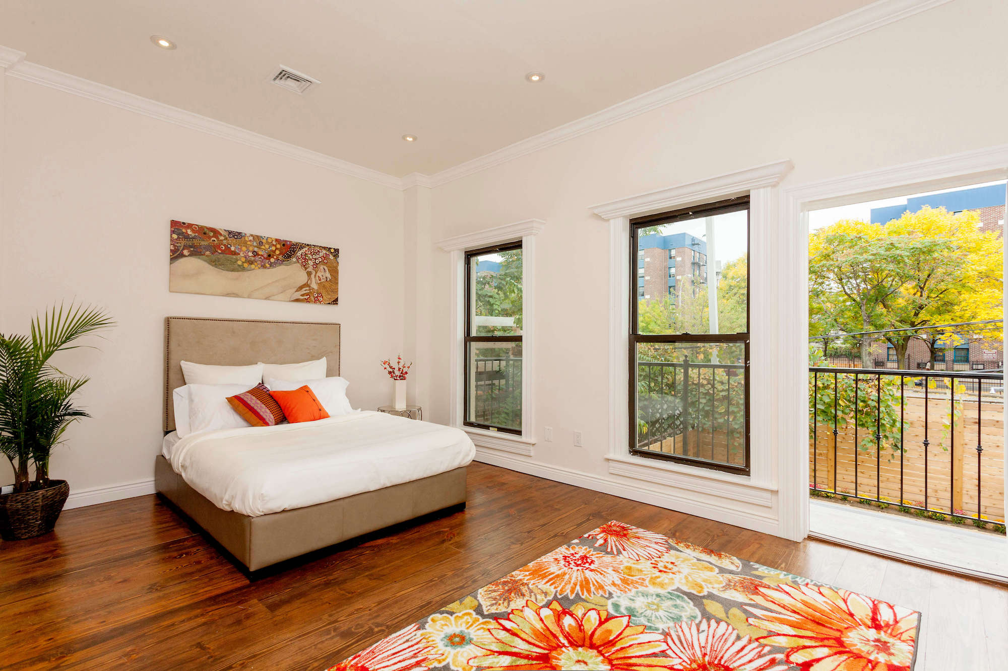 Colorful Bedroom with Natural Light