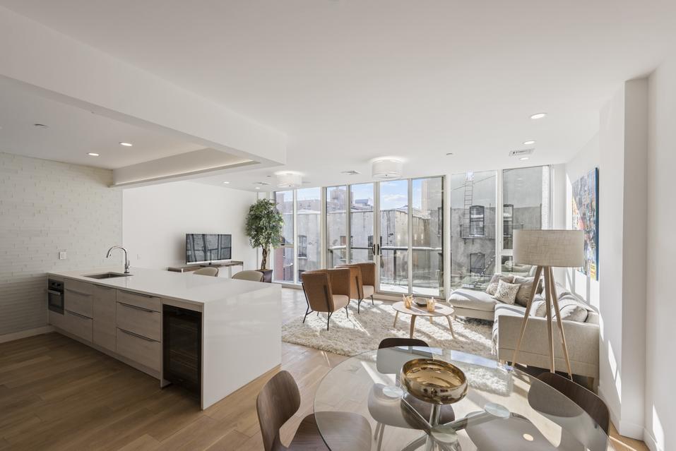 Wide Open Living Room in new luxury condo