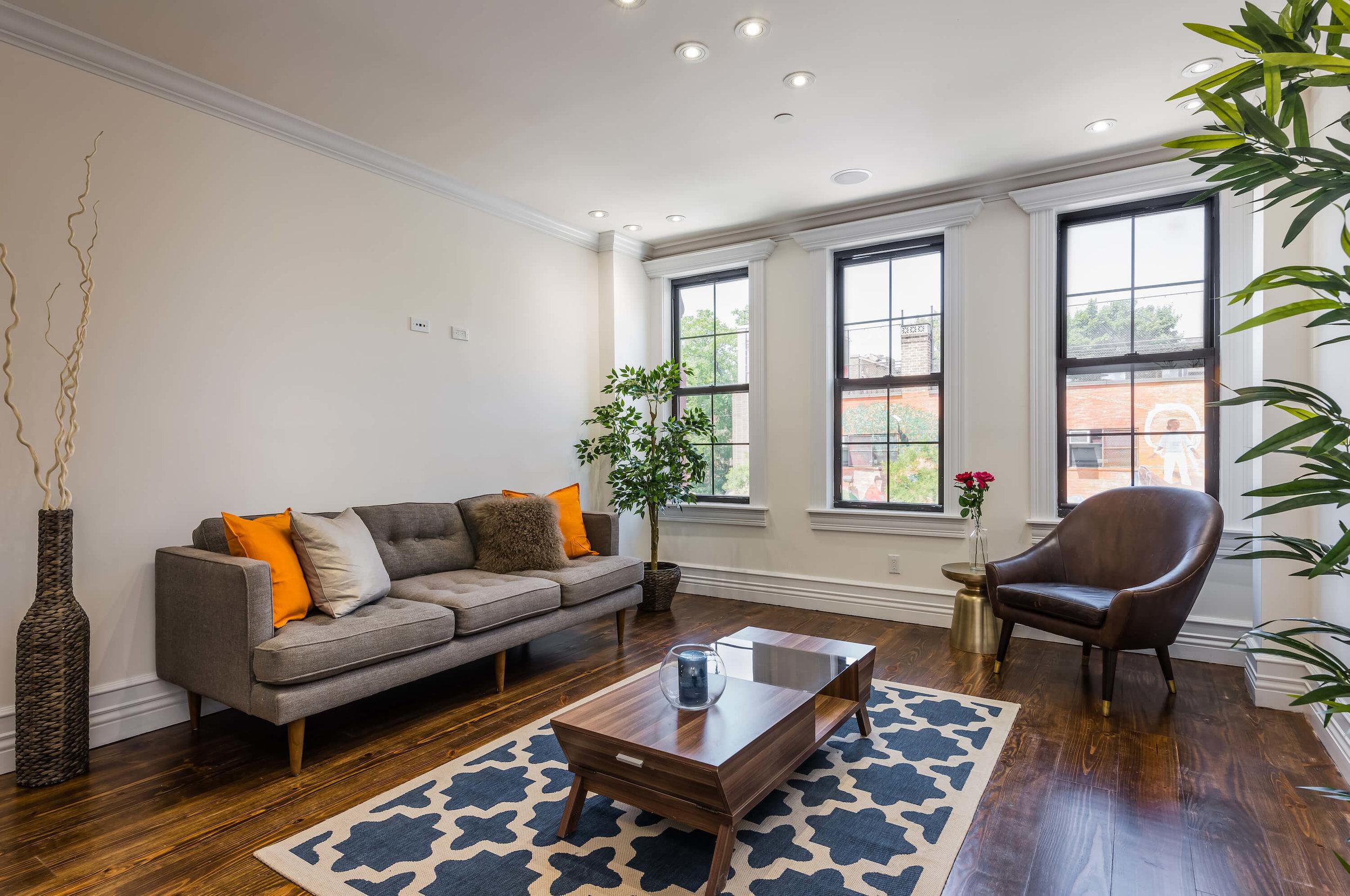 Plush, Well-Lit Living Room