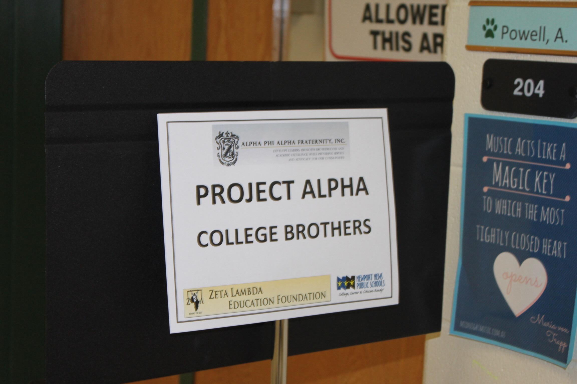Alpha Phi Alpha, Zeta Lambda, Project Alpha