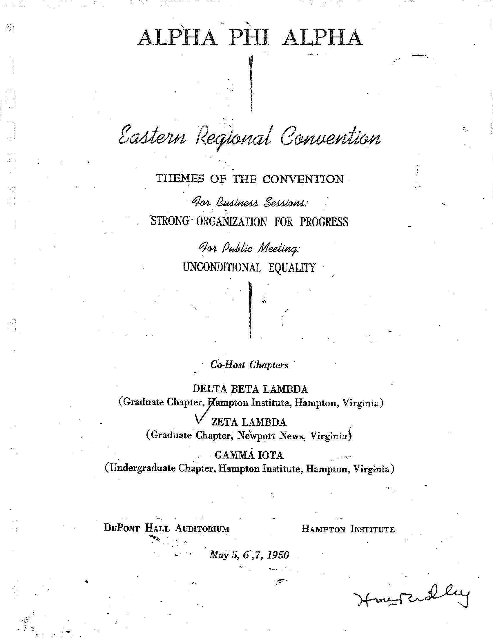 Zeta Lambda 1950 - Eastern Region Convention.png