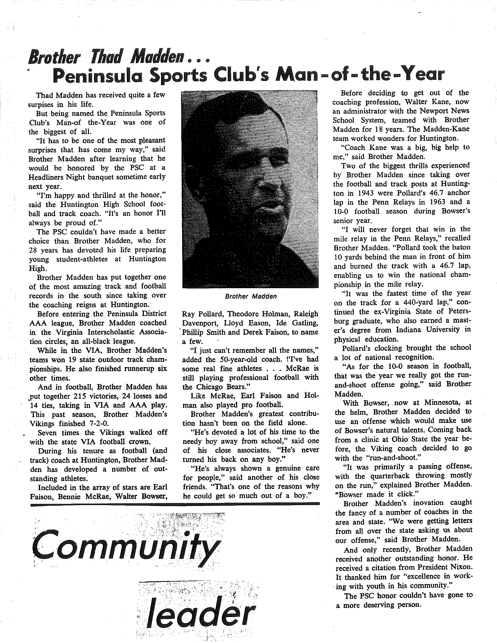 Zeta Lambda 1971 - Peninsula Sports Club Man of the Year, Bro. Thad Madden.png