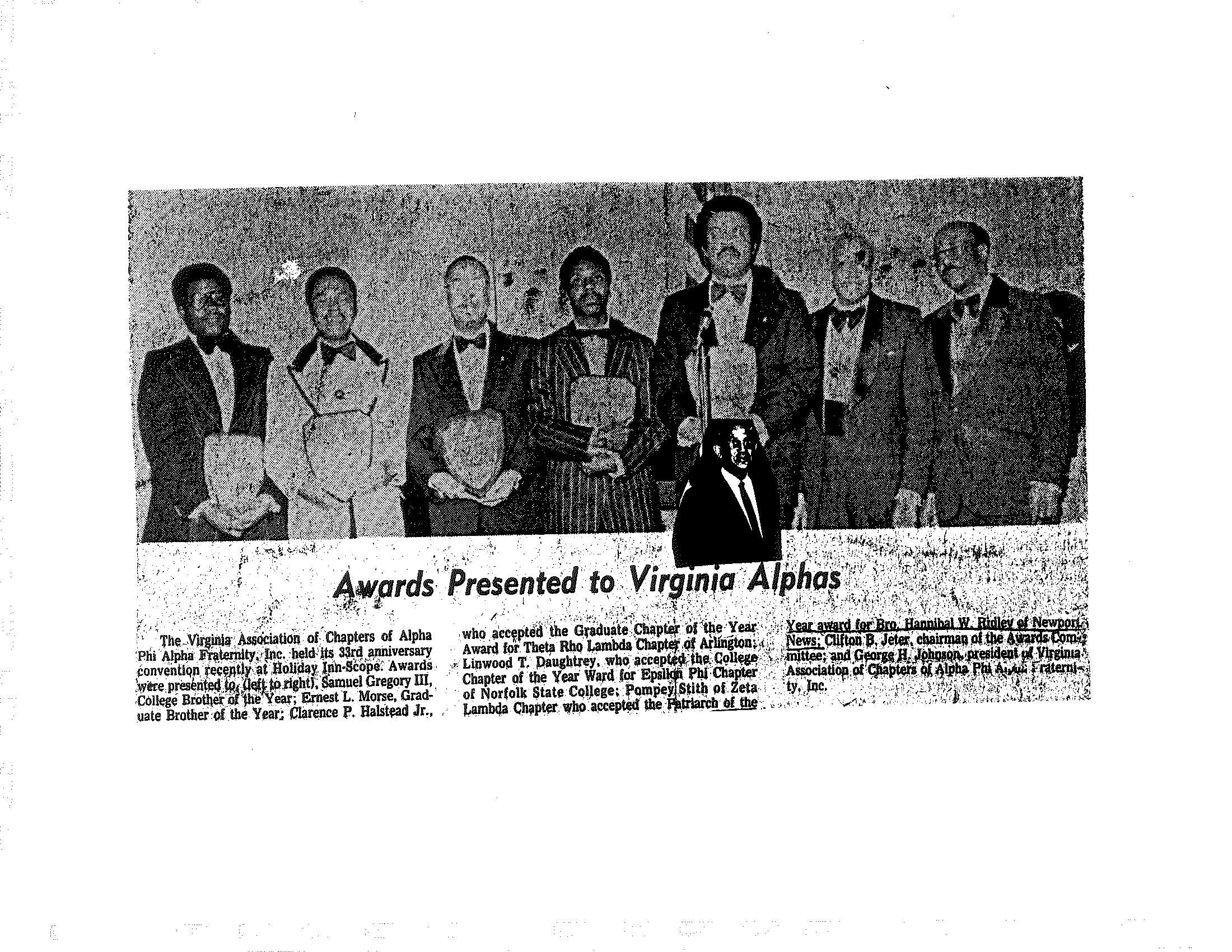 Zeta Lambda 1975 - Bro. Hannibal Ridley VACAPAF Patriach of the Year.png