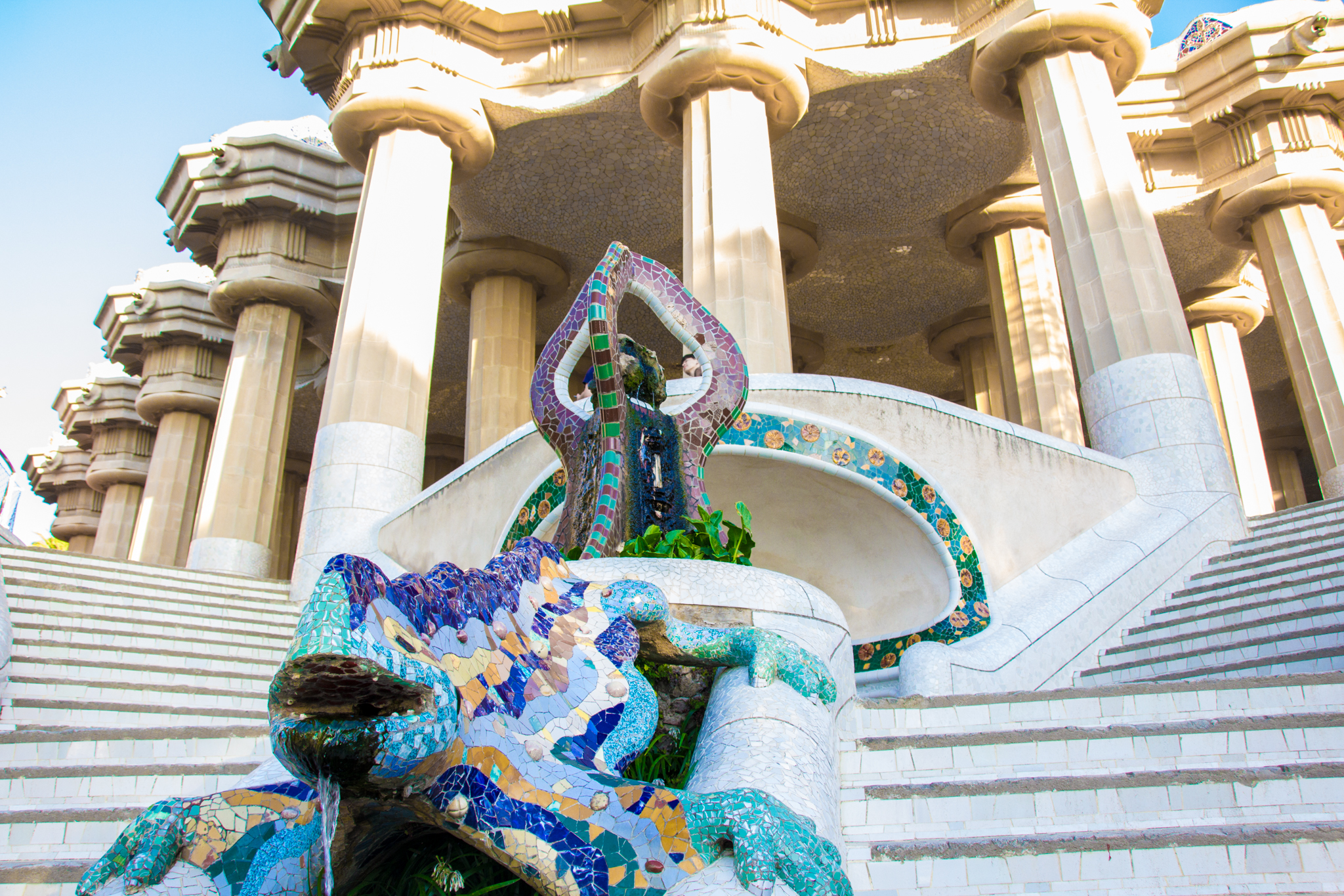 Park Guell,crafted by the famous Antonio Guadi.