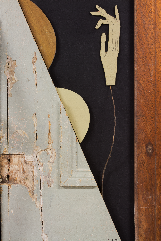 detail: reclaimed wood assemblage | image: Marcelo Duarte @graphosbrasil