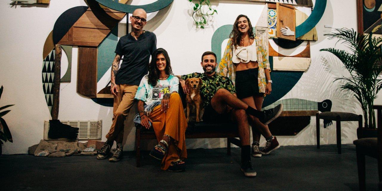 Wozen Crew: Rique Inglez, Marta Rosas, Johnny e Mari Cecchini