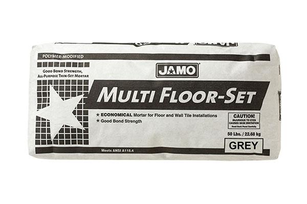 - El JAMO MULTIFLOOR es un mortero modificado con polímeros que ofrece una poderosa fuerza de adherencia para realizar instalaciones de baldosas absorbentes, vítreas, semi-vítreas, porcelanatos para pisos e instalaciones sobre piso de cerámica; previo esmerilado de las baldosas existentes.