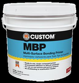 - El primer adhesivo de multisuperficies MBP es un primer de un solo componente, a base de agua y diseñado para ofrecer adhesión superior sobre una variedad de sustratos donde resulta difícil la adhesión adecuada.Formulado especialmente con agregados y polímeros para promover adhesión mecánica sobre sustratos no porosos.