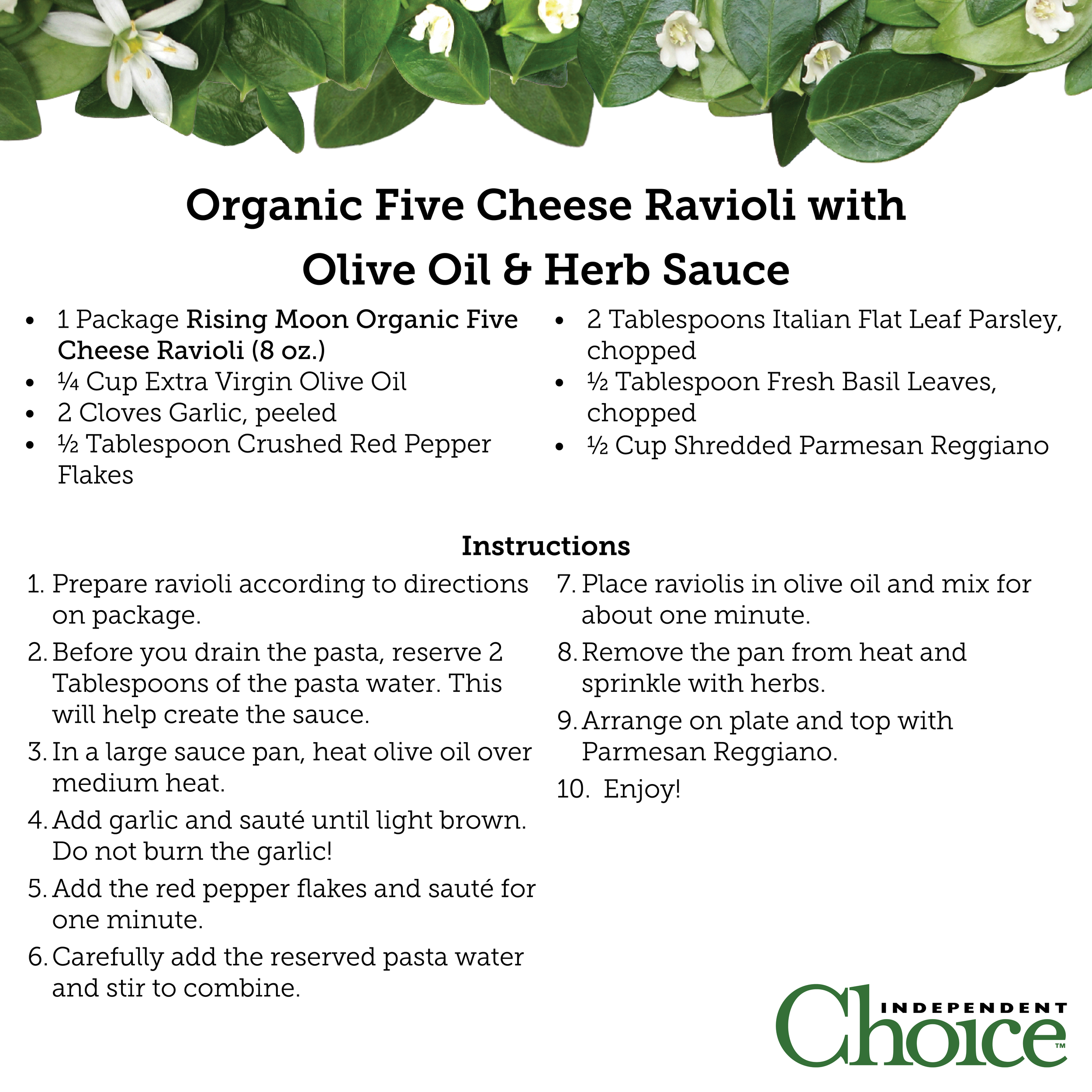 Organic Five Cheese Ravioli with Olive Oil & Herb Sauce.png